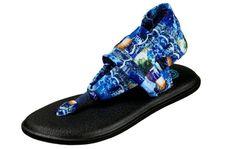 Sanuk Womens Yoga Sling 2 Sling Back Sandal Blue Love Size 9 Blue Sandals, Shoes Sandals, Sanuk Sandals, Footwear, Yoga, Fashion, Moda, Shoe, Fashion Styles
