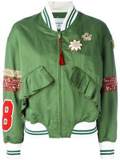 DONDUP Floral Detail Bomber Jacket. #dondup #cloth #jacket
