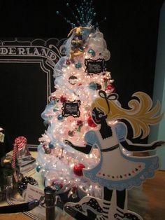 Alice in wonderland Christmas tree