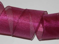 25 ft Hot Pink Metallic Wire Ribbon Bow Christmas Easter Baby 2 1/2 in Birthday