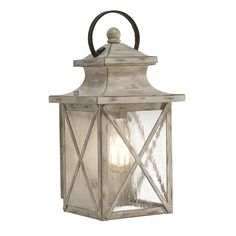 Kichler Lighting Haven 12.99 In H Distressed Antique White And Rust Outdoor  Wall Light