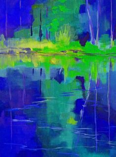 After Midnight Nancy Merkle Painting - Acrylic On Canvas