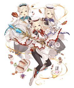 View an image titled 'Three Little Pigs, White Mage Job Art' in our SINoALICE art gallery featuring official character designs, concept art, and promo pictures. Female Character Design, Character Design Inspiration, Character Concept, Character Art, Concept Art, Girls Characters, Fantasy Characters, Anime Characters, Anime Weapons