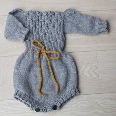 "Pattern on PDF for winter romper   Sizes -  6 (12) 24 months Yarn - "" Alpakkaull"" from Sandnes garn, and also some yarn for the waist band Yarnamount - 100 (150"