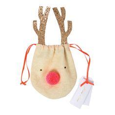 Reindeer Drawstring Pouch