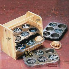 DIY Muffin Tin Storage Bin