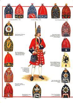 Images Of History — bantarleton: British grenadiers and foot guards as. British Army Uniform, British Uniforms, British Soldier, American Revolutionary War, American War, American History, Commonwealth, British Armed Forces, Seven Years' War