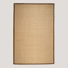 One of my favorite discoveries at WorldMarket.com: Brown Cotton Border Panama Sisal Rug, Tan