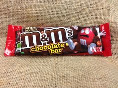 Red wants you to know: this M&Ms chocolate bar contains 220 calories. Make sure you know how to #treatright and consume candy in moderation.