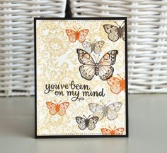 Chez Parmentier: SSS March card kit # 5 & # 6 butterflies + Easter basket