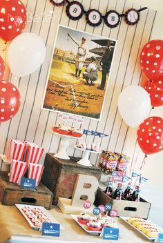 Itsy Belle: {Real Party} Vintage Baseball Birthday Party