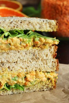 "Lentil + Chickpea Salad Sandwiches {a.k.a. Vegan ""Egg"" Salad Sandwiches} » I LOVE VEGAN"
