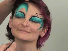 Mermaid flair and feel face painting. (annoying but nice tutorial)