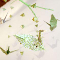 Fabriquer son propre mobile en origami