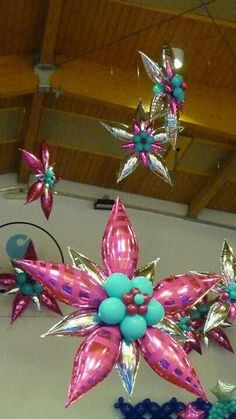 foil and latex balloons
