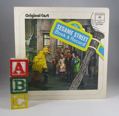 "Sesame Street Record Vintage 70s TV Show Collectible ""Original Cast"" Song and Lyrics Children's 45 RPM Columbia Record Art Nostalgic Gift by WillowValleyVintage on Etsy"
