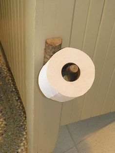tree branch toilet paper holder. just sayin...