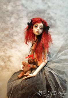 Key to my heart...ball jointed art doll by artist Connie D'Angelo ( aka cdlite )