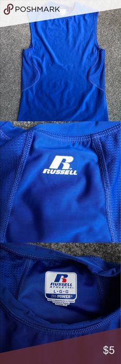 Large Russel Undershirt Royal Blue Lg Russell Athletic Shirts Tank Tops