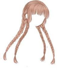 Resultado de imagen para kawaii draw red long hair bow