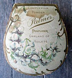 Vintage powder box Palmer garland of violets by LittleBeachDesigns, $36.00
