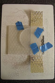 Tutorial - Using Embossing Folders and Diffusers - Pushing the Right Buttons