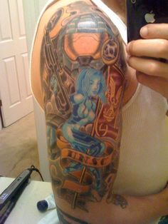 geek tattoo / halo / cortana / master chief