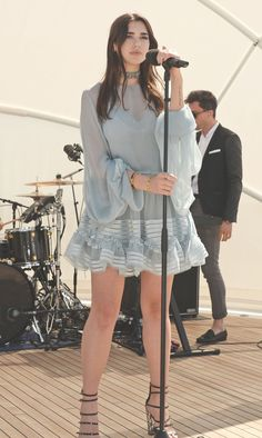 #chloeGIRLS hit the stage in Cannes – Dua Lipa performed aboard Odessa II wearing our flou dress from the Fall 2016 collection