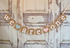 This We are one Banner is the perfect addition to any Birthday Party to mark the twins First Birthday! The teddy bears can be in any color youd