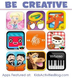 {creative apps for kids} Does your child love technology? What are their favorite apps? Share them with us in the comments here.