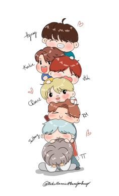 If you don't know who they are they are BTS you have to listen to them ❤ Bts Chibi, Bts Got7, Bts Jimin, Taehyung Fanart, Bts Taehyung, Foto Bts, Bts Wallpaper Lyrics, Bts Playlist, Bts Drawings