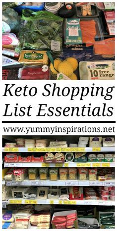 Keto Shopping List Essentials - Great for beginners to the low carb ketogenic diet - an easy guide of what to look out for at the grocery store.
