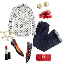 Dots and more dots, created by jcrewlvr on Polyvore