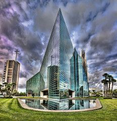 Crystal Cathedral Reflection (M. Daniels) Tags: reflection church hdr gardengrove topaz crystalcathedral photomatix