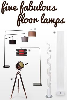 We love a good floor lamp! Here are 5 of our favourites.