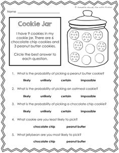 3 Worksheets Probability Whats Most Likely Math Probability Worksheets & of data analysis and √ Worksheets Probability Whats Most Likely . 3 Worksheets Probability Whats Most Likely . Worksheet Works Word Ms Work Worksheets Kids Probability in Probability Worksheets, Science Worksheets, School Worksheets, Worksheets For Kids, Math Resources, School Resources, Kindergarten Worksheets, Maths 3e, Primary Maths