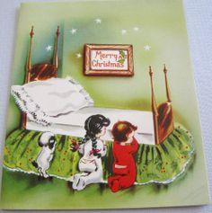 Vtg Christmas Card