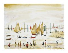 Yachts, 1959 Premium Giclee Print by Laurence Stephen Lowry at AllPosters.com