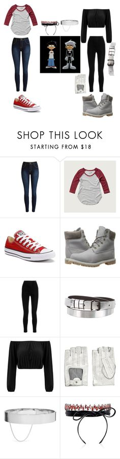 """Danny Phantom Cosplay/Gender Bent"" by ash-the-emo ❤ liked on Polyvore featuring Abercrombie & Fitch, Converse, Timberland, Balmain, Balenciaga, Causse, Eddie Borgo and Fallon"