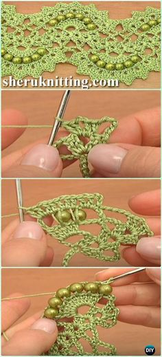 Crochet Beaded Lace Tape Free Pattern Video - Crochet Tape Free Patterns
