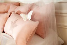 Linen and Liberty pink cushions