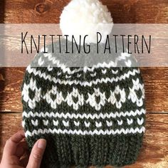 ** KNITTING PATTERN ONLY ** to knit a Arctic Circle Toque  If you are a lover of chunky cozy wool, and fair isle knitting this pattern is sure to be a delight for you. If you havent tried fair isle knitting I strongly recommend practicing your tension and technique before attempting a toque. Tension is crucial, and if your stitches do not have the proper amount of stretch your toque will be too tight, and your adult hat will quickly become suitable for a child noggin only. If you have any…