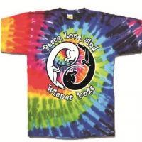 Peace, Love, & Wiener Dogs Tie Dye T-shirt