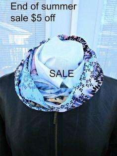 Light weight southwest print infinity scarf by PrairieFlowerCreate