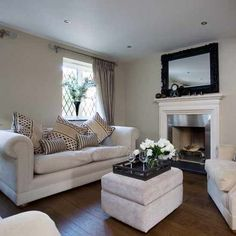 White Sofa Home Decor. Traditional Living Room Decoration Ideas For The  Black And White Lovers