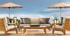 CHIC COASTAL LIVING: What I'm Loving Now ~ Restoration Hardware Patio Furniture
