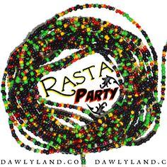 Rasta Party - Waist Beads & Mega Wraps by DawlyLand on Etsy