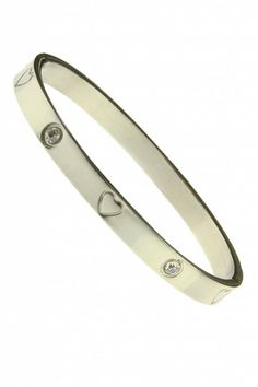 RVS Armband Hearts & Stones-Zilver (bracelet) - Sazou.nl