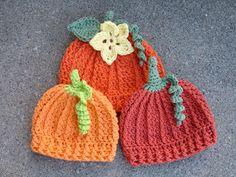 Crochet Pattern for Pumpkin Beanie Hat 5 por crochetbyjennifer