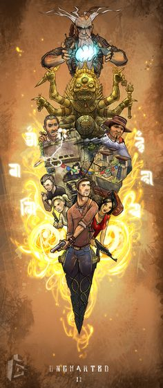 Uncharted 2: Among Thieves This pic sums up a game that takes up to about 26hrs of game play and makes it easy for the rest of us